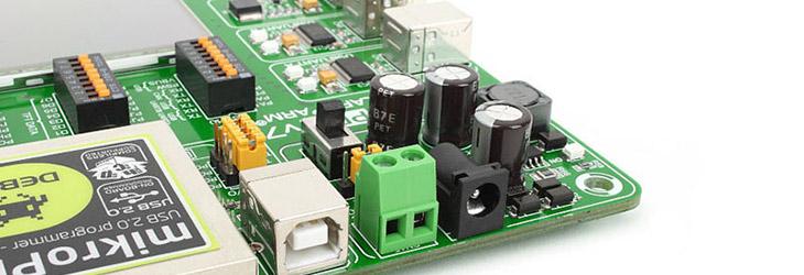 Mikroe EasyMx PRO v7 for Stellaris Power supply