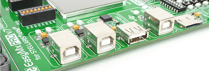 EasyMx PRO v7 for Stellaris UART USB Mikroe