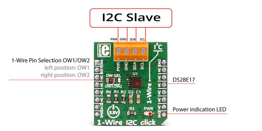 MikroElektronika Click Boards Interface 1-Wire I2C click