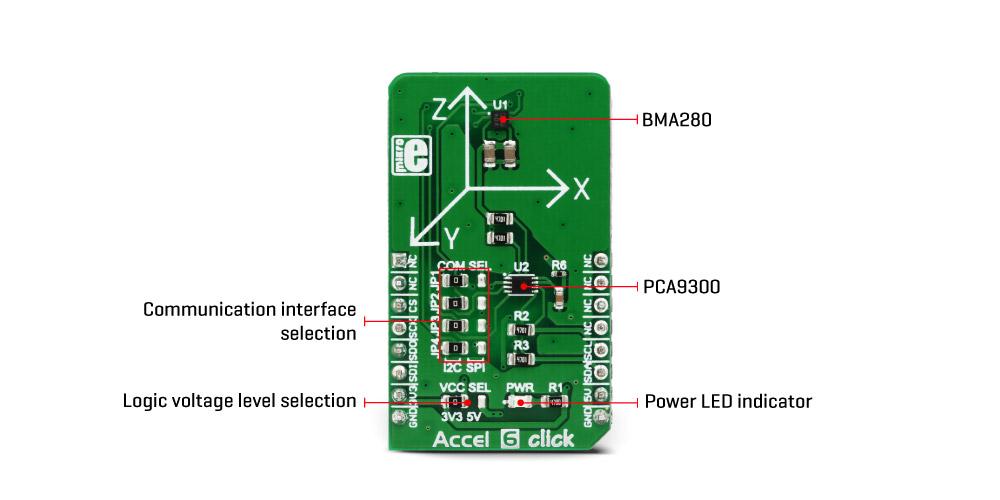 Accel 6 Click Mikroelektronika