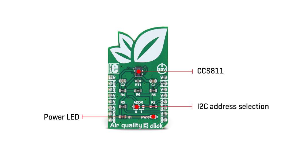 MikroE Sensors Air quality 3 click
