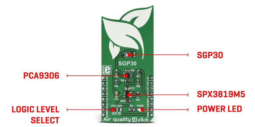 MikroE Sensors Air quality 4 click