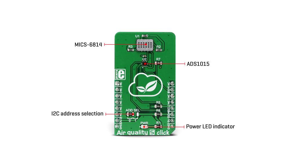 MikroE Sensors Air quality 5 click