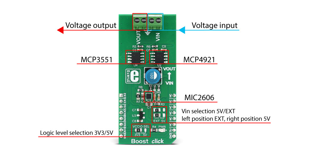 Mikroe Power Management Boost click