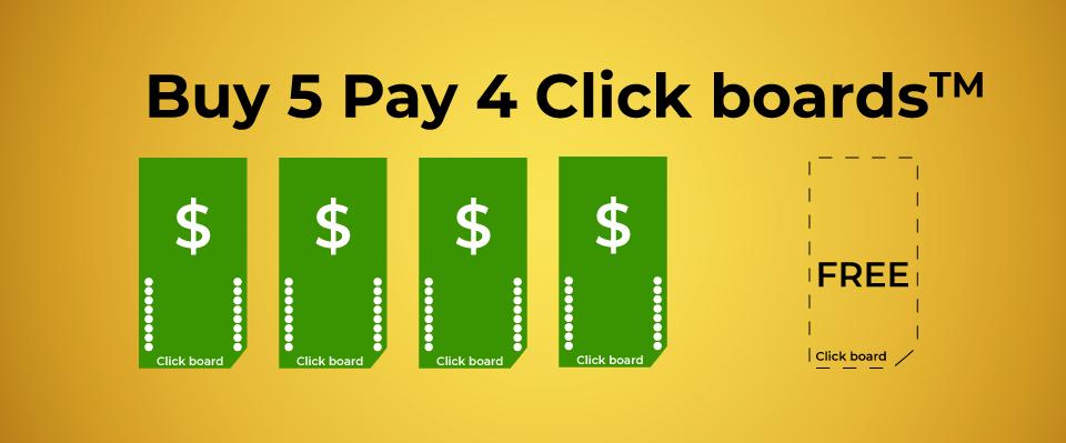 buy 5 play 4 click boards