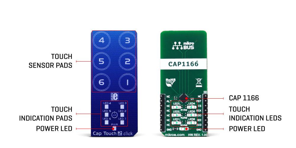 MikroElektronikas Cap Touch 2 click