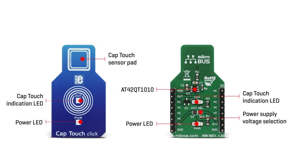 MikroElektronikas Cap Touch click