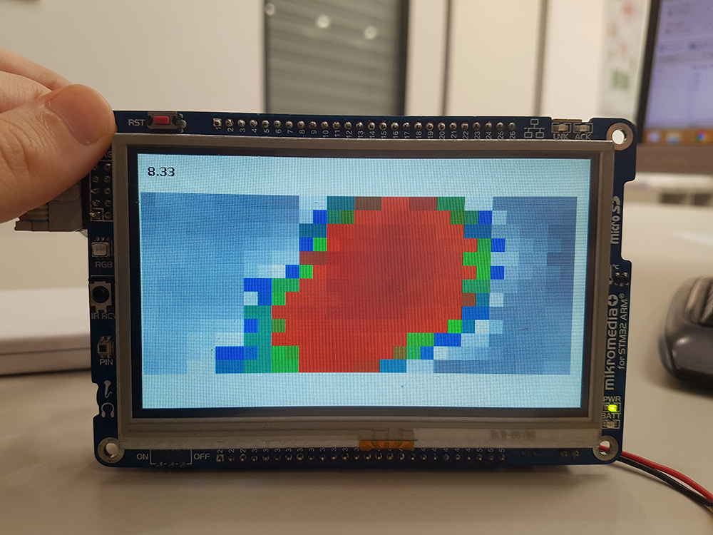 mikromedia Plus for STM32 - 30x11 matrix is displayed