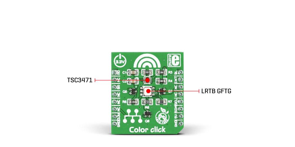 Mikroe Sensors Color click