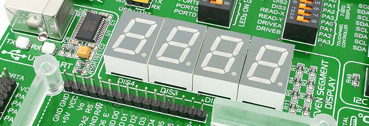 MikroE EasyAVR v7 4 digits display