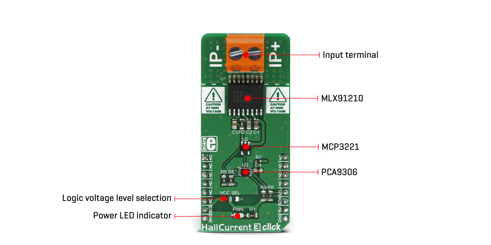 MikroElektronika Click Boards Sensors Hall Current 3 click