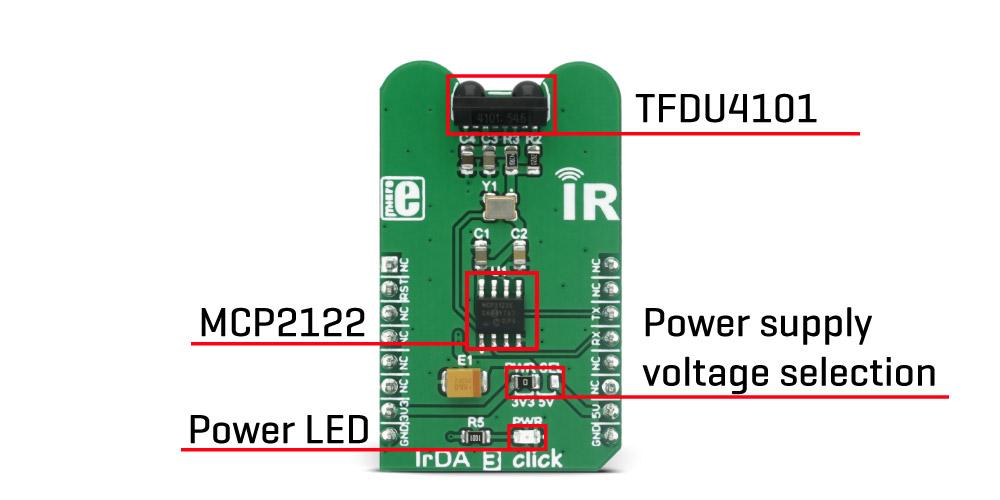 Mikroe Sensors IrDA 3 click
