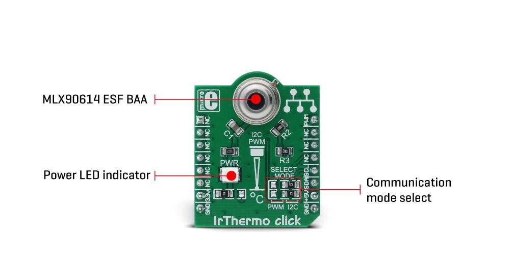 MikroE Sensors IrThermo click 3.3V