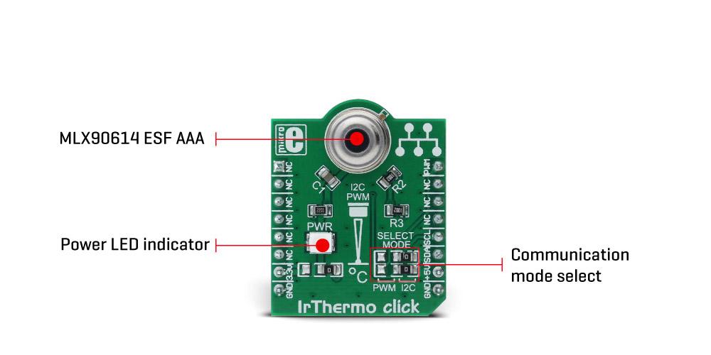 MikroE Sensors IrThermo click 5V