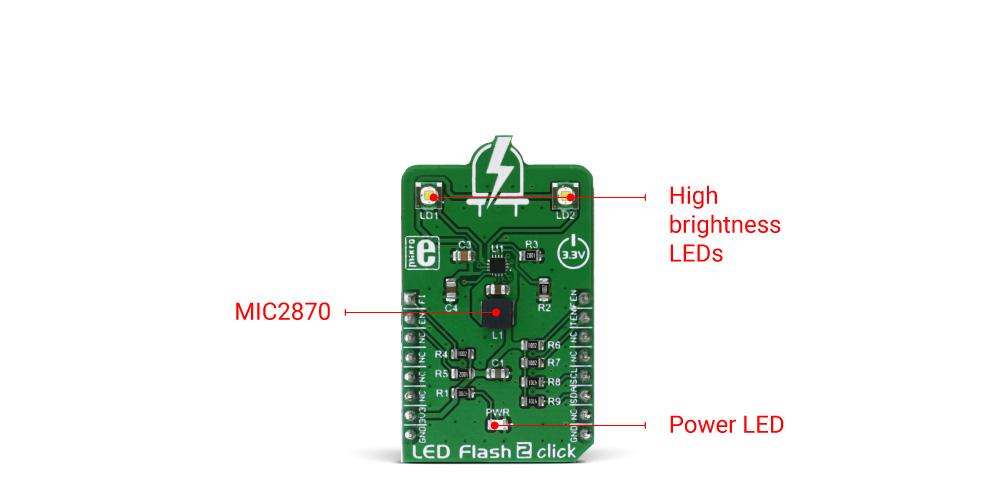 Mikroe Display LED Flash 2 click