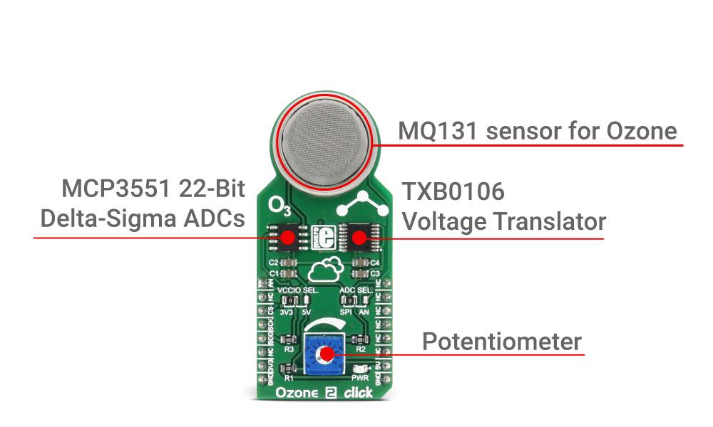 Mikroe Sensors Ozone 2 click