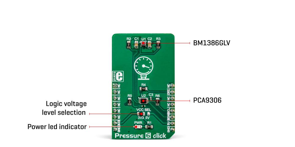 Mikroe Sensors Pressure 6 Click