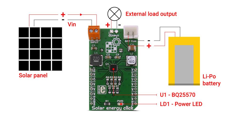 Solar energy click   MikroElektronika