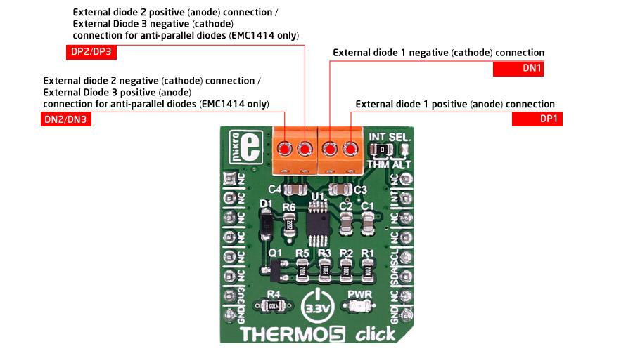 MikroE Sensors THERMO 5 click