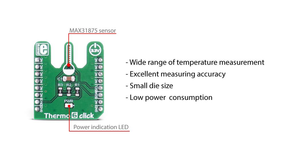 MikroE Sensors Thermo 6 click