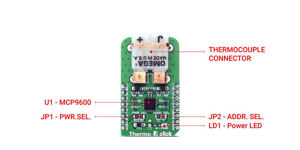 MikroE Sensors Thermo J click
