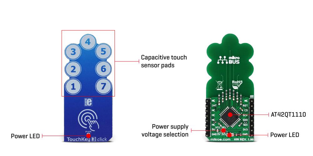 MikroElektronikas TouchKey 3 click