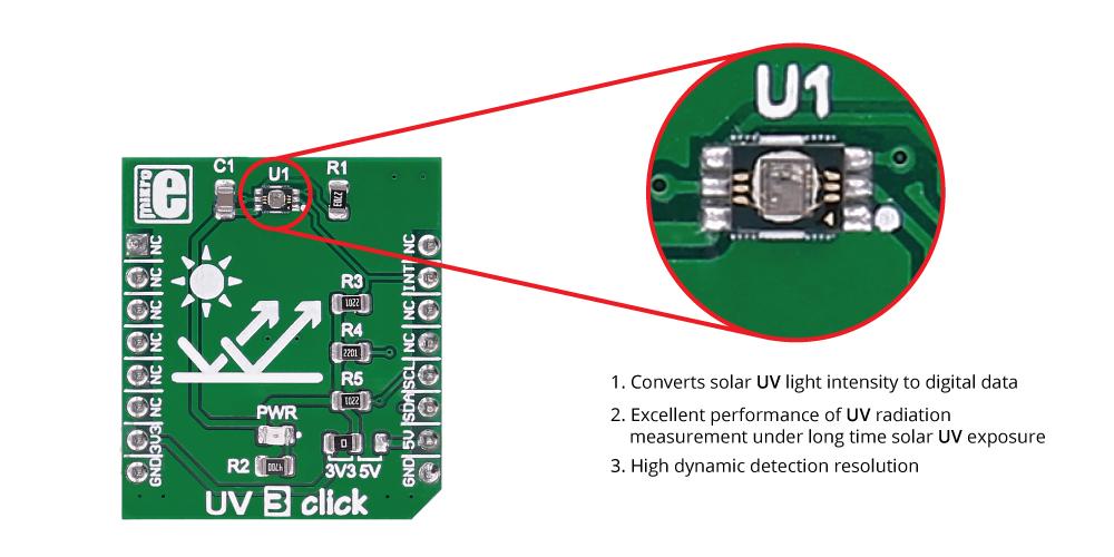 MikroE SensorsUV 3 click