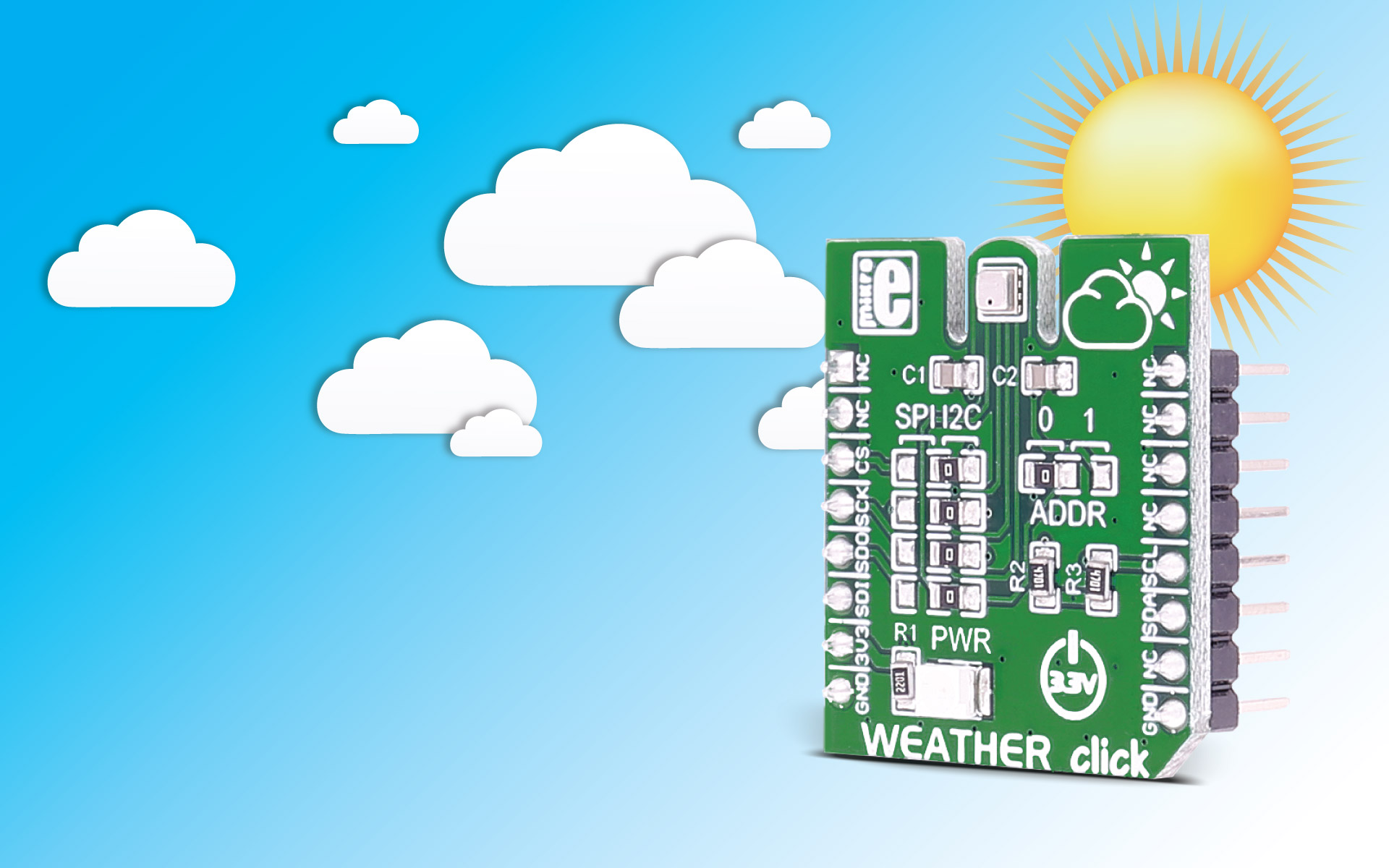 MikroE Click Board sSensors Weather click