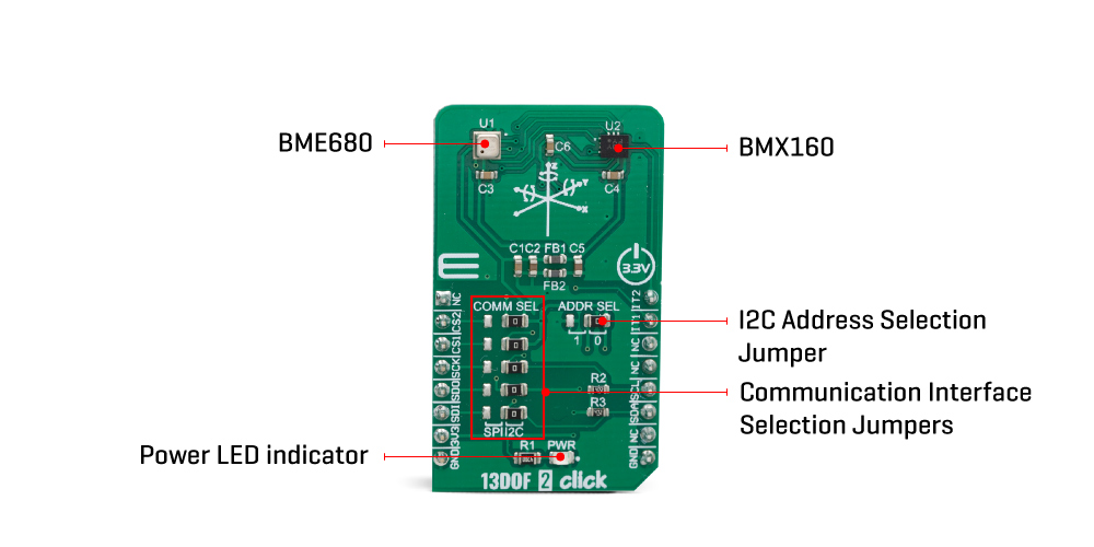 Shop Click Boards Sensors 13DOF 2 click