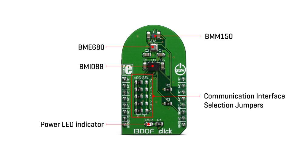 Shop Click Boards Sensors 13DOF Click