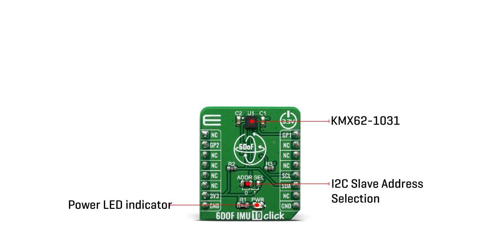 Click Boards Sensors Motion 6DOF IMU 10 click