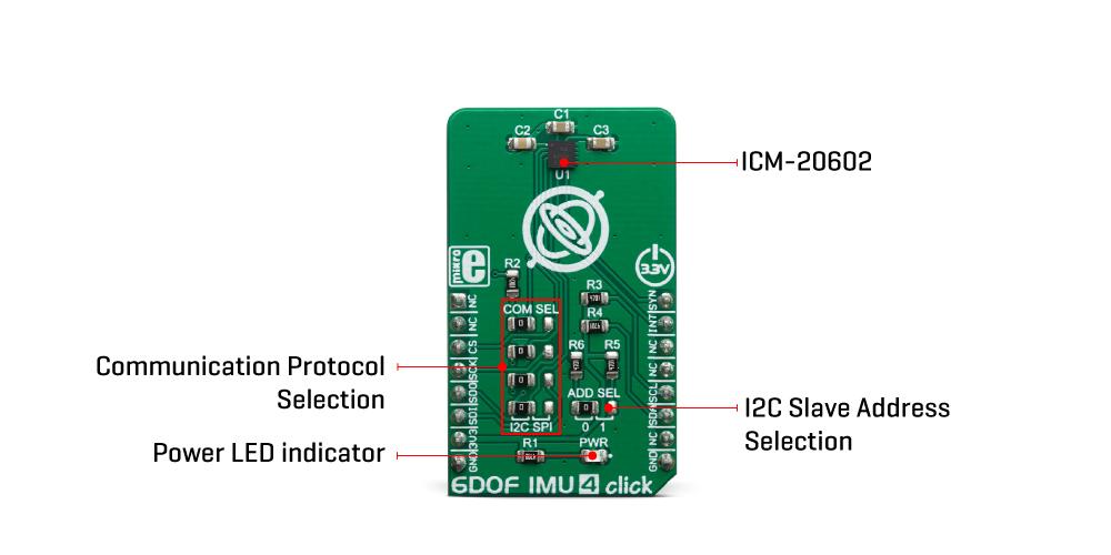 Mikroe Sensors 6DOF IMU 4 Click
