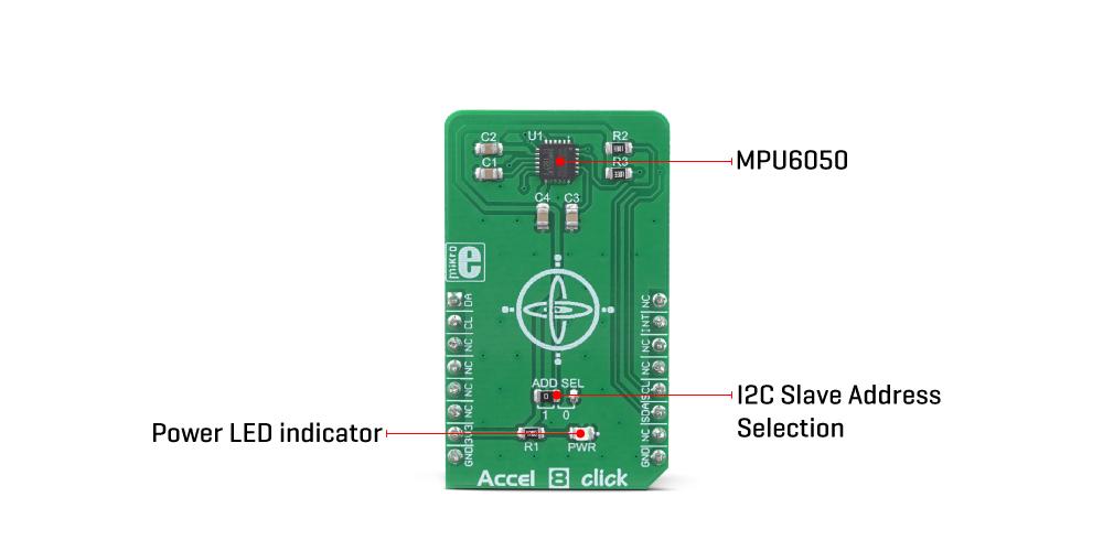 MikroE Sensors Accel 8 Click