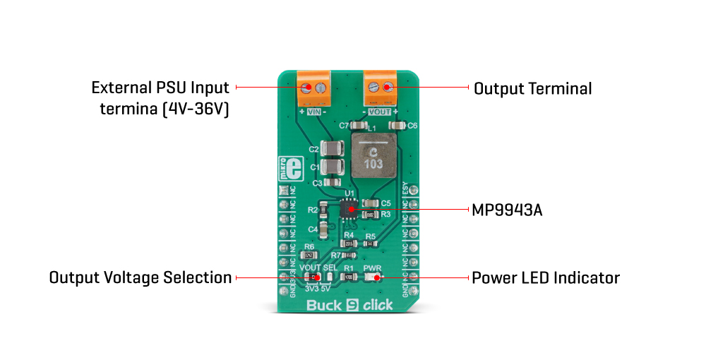 Mikroe Power Management Buck 9 Click