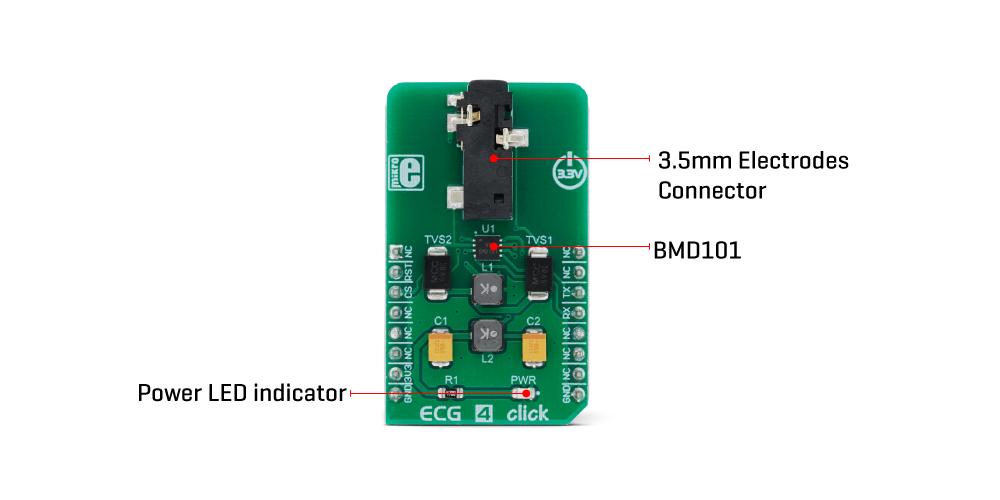 Mikroe Sensors ECG 4 Click