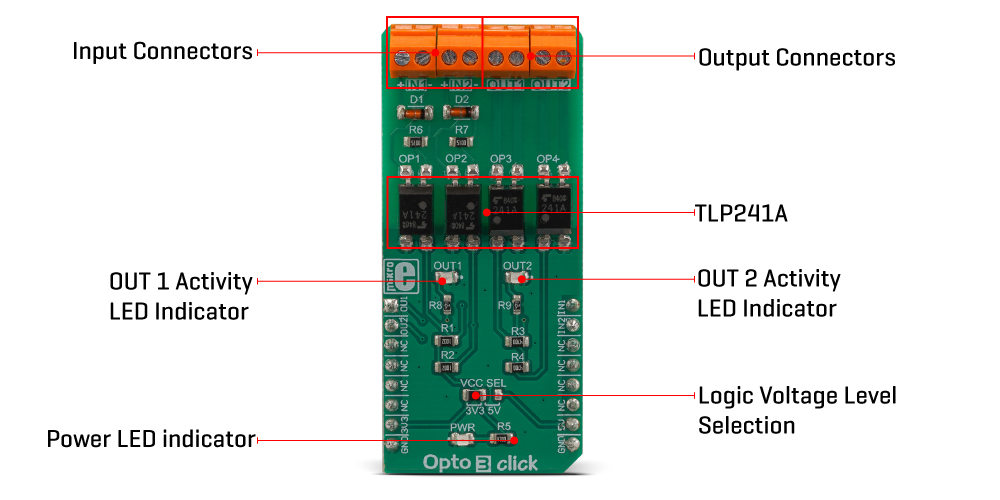 MikroE Click Boards Miscellaneous Opto 3 click