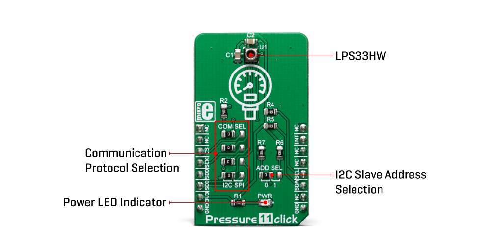 Mikroe Sensors Pressure 11 Click