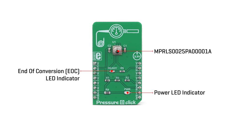 MikroE Sensors Pressure 8 Click