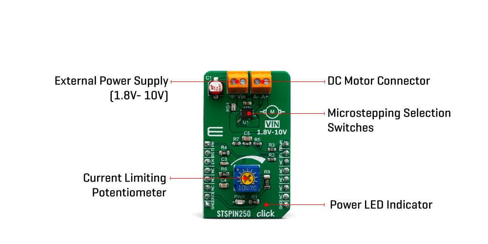 Click Boards Motor Control STSPIN250 click