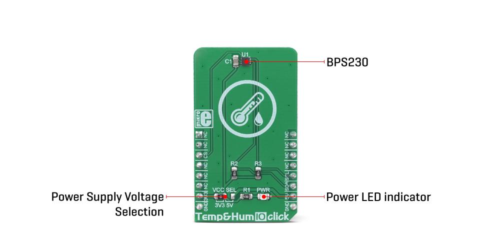 Mikroe Click Boards Sensors Temp&Hum 10 Click