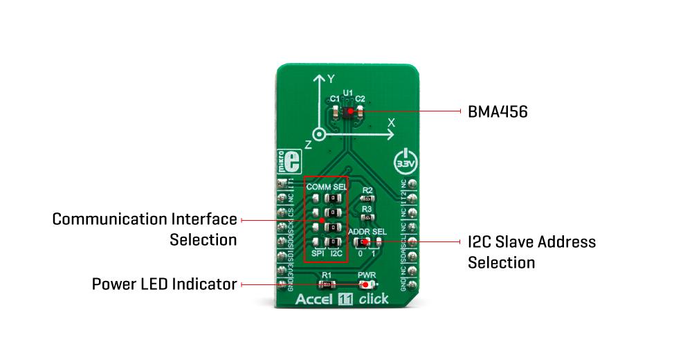 Click Boards Sensors Accel 11 Click Mikroe