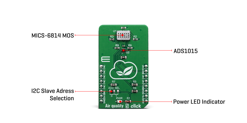 Click Boards Sensors Air quality 5 click