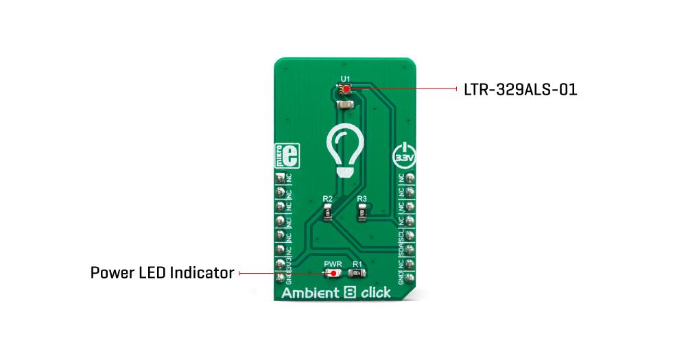 Mikroe Click Boards Sensors Ambient 8 Click