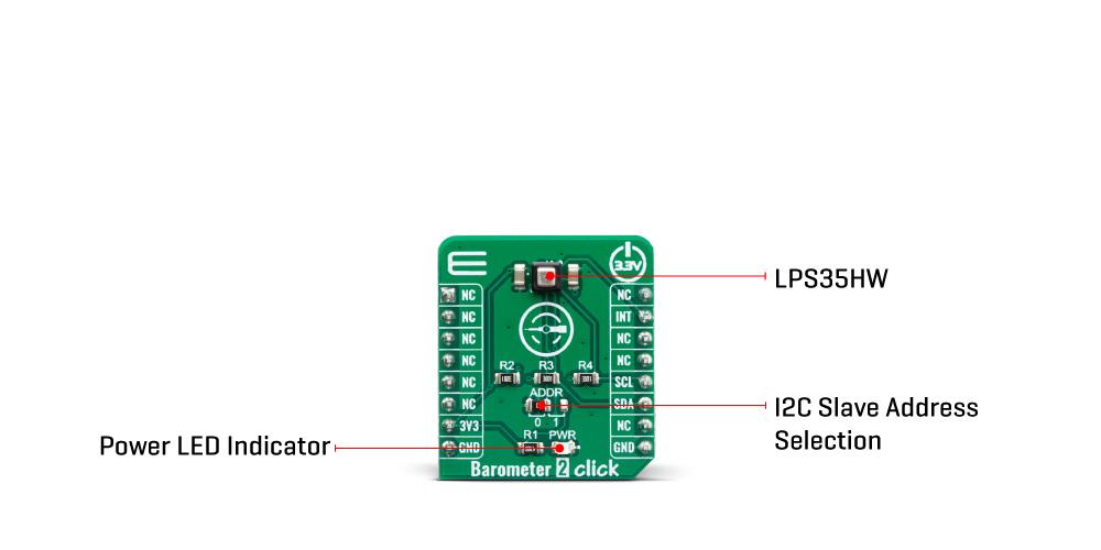 Click Boards Sensors Barometer 2 Click