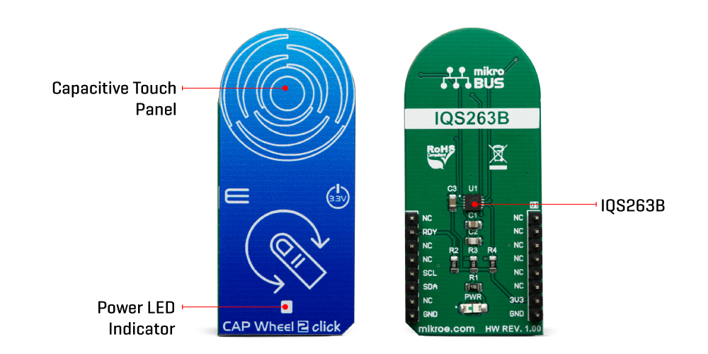 Click Boards HMI Cap Wheel 2 Click