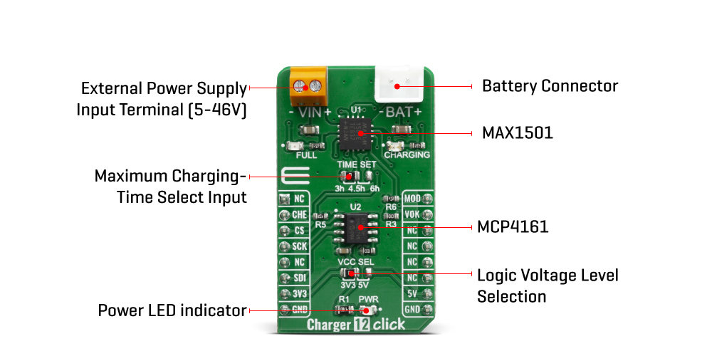 Shop Click Boards Power Management Charger 12 Click