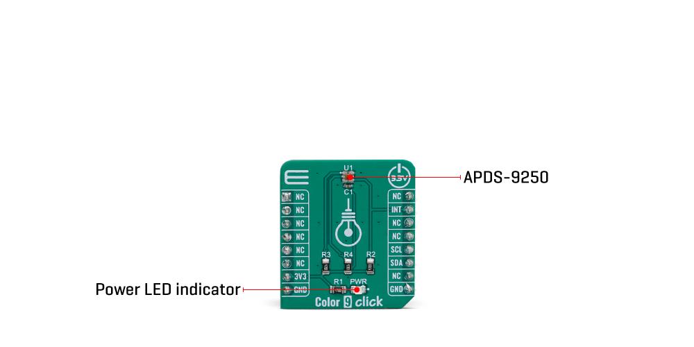 Click Boards Sensors Color 9 Click