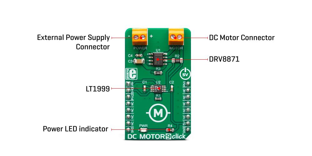 Mikroe Motor Control DC Motor 9 Click