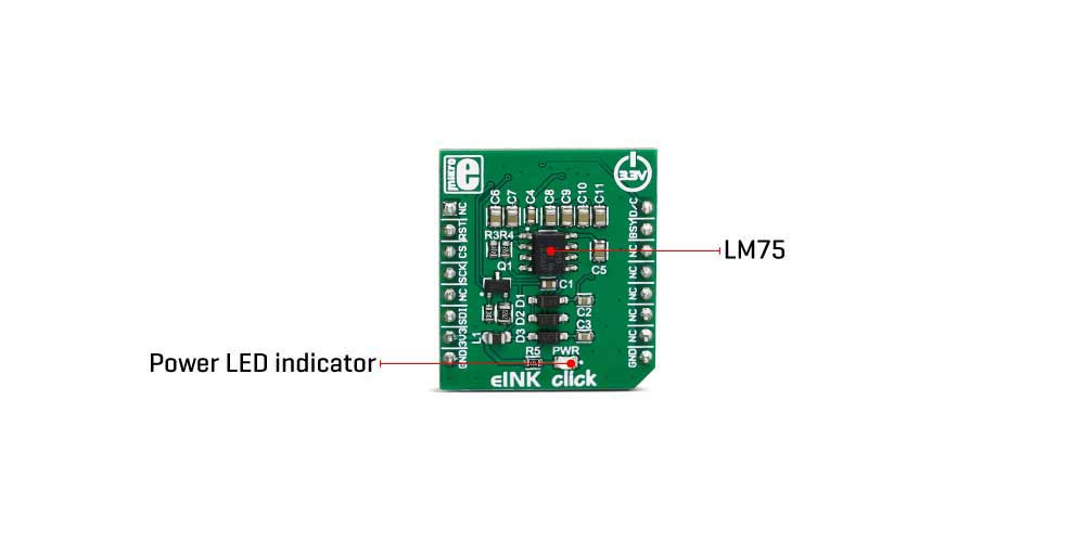 Shop Click Boards Interface eINK click - without display inner