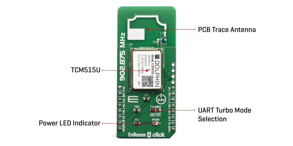 Click Boards Wireless Connectivity EnOcean 4 Click